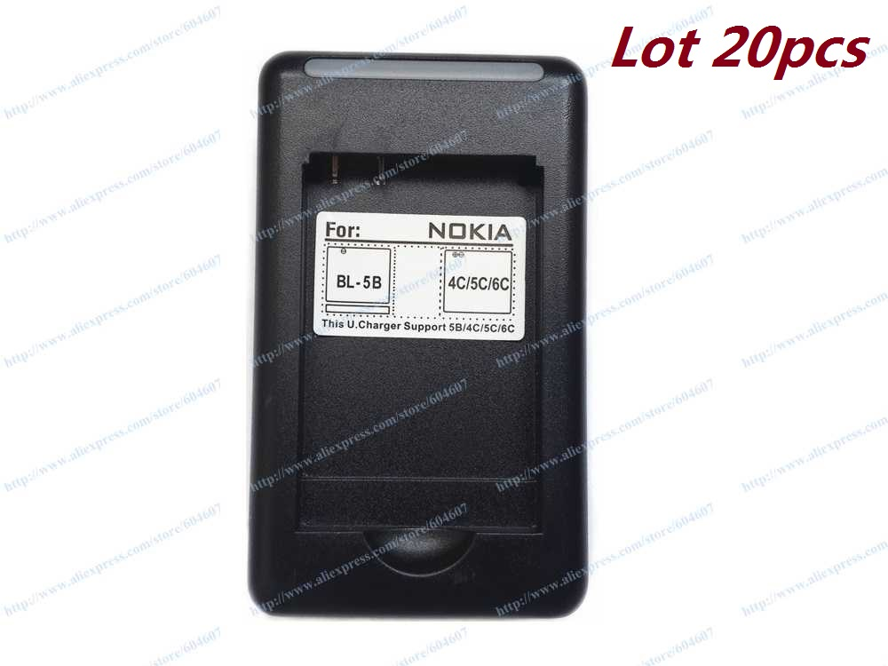 Lot 20pcs New USB Battery Charger Wall Charger For Nokia 6600 N70 N72 N91 6630 3100 Phone BP-5C Battery(China (Mainland))