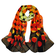 Fashion Women Chiffon Dots Printed Designer Scarf Autumn Gradient Plaid Flower Leopard Casual Silk Scarves Long Wrap Pashmina(China (Mainland))