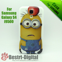 100Pcs/Lot, Free DHL, Despicable Me 2, Little Beedo, Plastic Cover Case for Samsung Galaxy S4 i9500, For Samsung Galaxy S4 Case