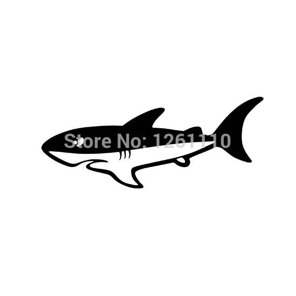 Cartoon SHARK Sticker decal window vinyl car Window Bumper boat surf beach great bull ocean(China (Mainland))