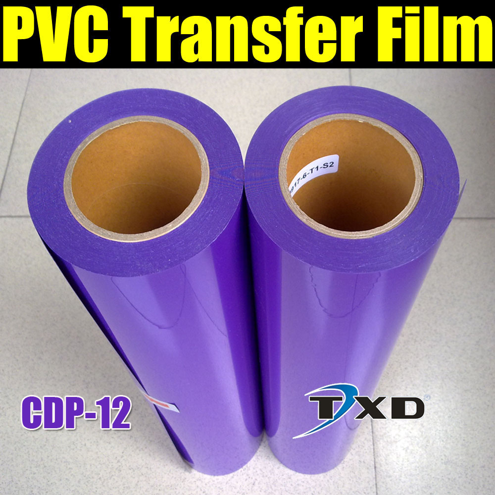 Free shipping PVC Heat Transfer Film for T-shirt purple color by size:0.5x25m per roll CDP-12 COLOR(China (Mainland))