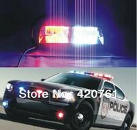 48W S2 US Federal light 16pcs Led car red blue led in dash police light/police car  warning light car strobe light