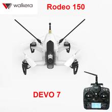 Original Walkera Rodeo 150 with DEVO 7 transmitter 5.8G 40CH with 600TVL Night Vision Camera 3D Aerobatic Mini FPV Racer RTF