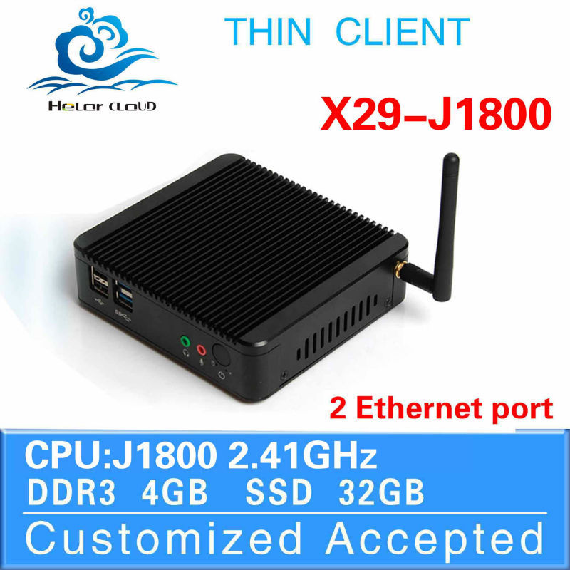 2015 new arrival Intel J1800 4*USB desktop pc computer networking cheapest Fanless Design support win7/8 OS mini pc thin client(China (Mainland))