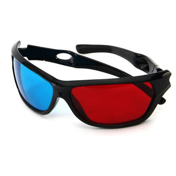NEW Red Blue Plasma TV Movie Dimensional Anaglyph Framed 3D Vision Glasses(China (Mainland))