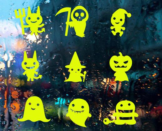 Kids Room Decoration New Diy Personality One Hundred 2015 Lanterns Halloween Pumpkin Equipment Stickers Zombie Vampire Edj19014(China (Mainland))