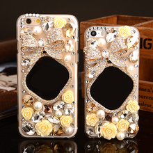 Luxury mirror Diamond bowknot Case coque Bling crystal Cover Sony Xperia XA X performance Z1 Z2 Z3 Z5 premium M4 M5 E5 E4 M2 - MagicBuying store