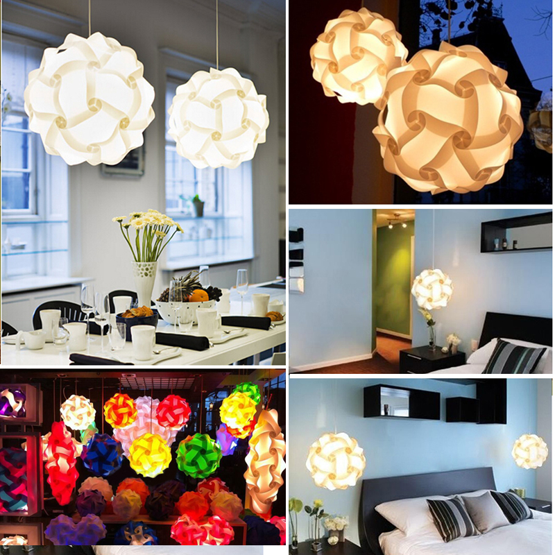 30pcs Jigsaw Lamp Elements IQ Puzzle DIY Size S Creative Bar Decor Light Lamp Shade Lampshade Design Home Decoration(China (Mainland))
