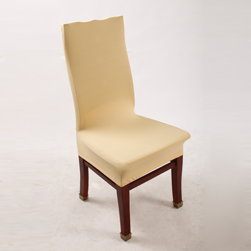 1 Piece Champagne Polyester Spandex Dining Chair Covers For Wedding Party Chair Cover Brown Dining Chair Seat Covers V30(China (Mainland))