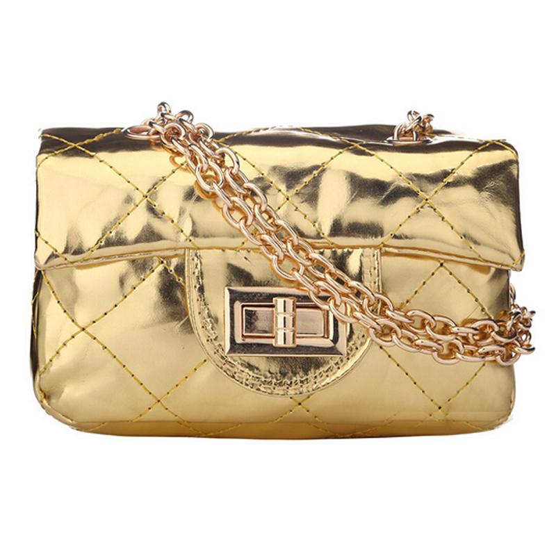 2016 New Women bag Children Princess Handbags Metal Chain Girls Messenger Bag Shoulder Bags(China (Mainland))