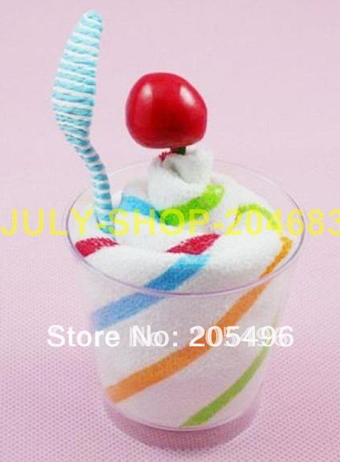 35% off Discount!!! baby Cake towel, icecream towel cake, cup cakes birthday wedding favors gifts(China (Mainland))