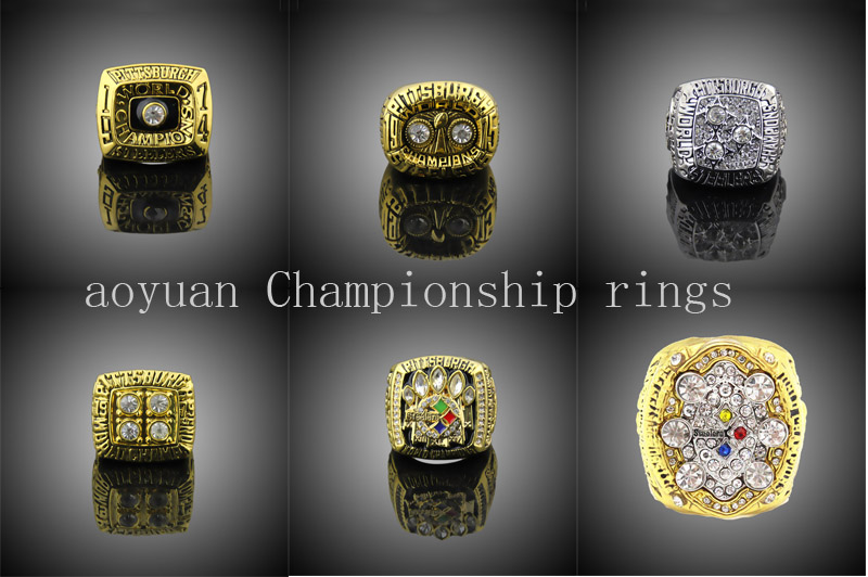Pittsburgh Steelers ring 1974 1975 1978 1979 2005 2008 Pittsburgh Steelers Super Bowl Championship Ring six together solid<br><br>Aliexpress