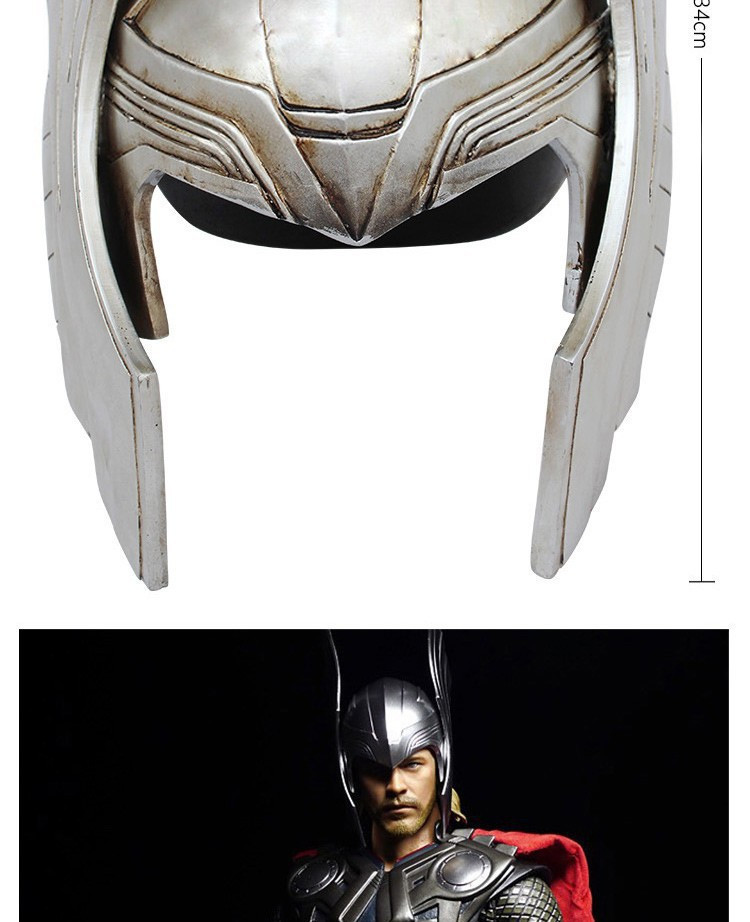Cosplay The Avengers Thor Helmet Props 1:1 Art Craft Resin 34cm Action Figure Collectible Model Toy Christmas Present Z170 Back To Search Resultstoys & Hobbies