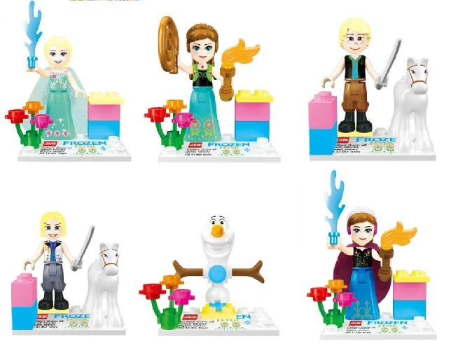 JLB 15Lot Building Blocks Super Heroes Avengers Friend Anna/Elsa Queen/Kristoff/Olaf/Prince Hans Minifigure Girl Friends Figures<br><br>Aliexpress