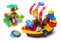 Kids DIY Toys Pirate Boat Plastic Model Kits Building Blocks Compatible With Legoes Large Bricks Early