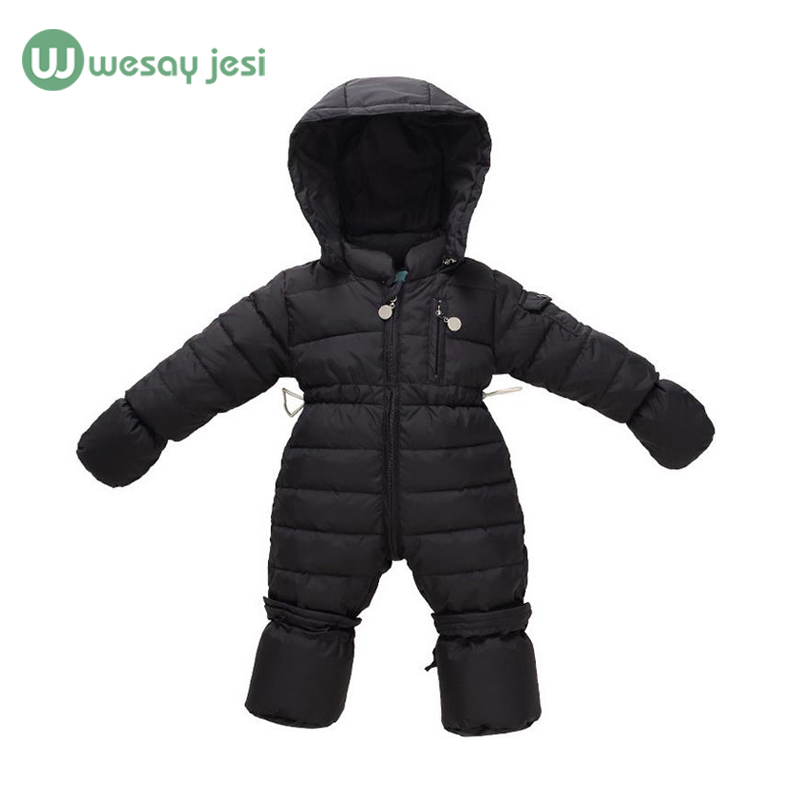 0-12M Newborn Boys Rompers Thick Warm Baby Snowsuit down long sleeve romper baby one piece Overalls Girls winter Infant Jumpsuit(China (Mainland))