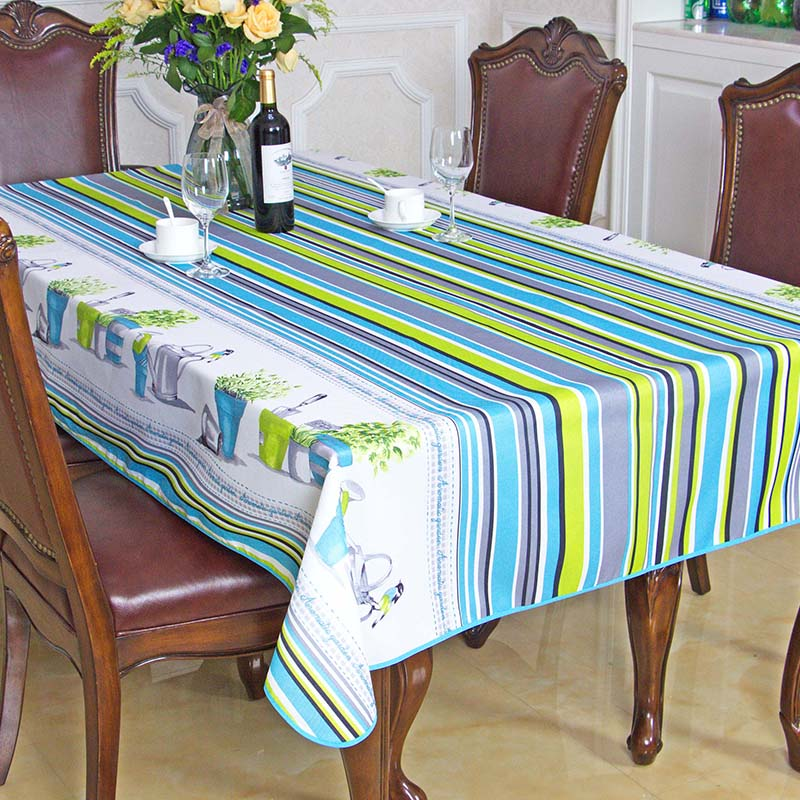 2016 Spring Summer Waterproof Pastoral Striped Table Cloth High Quality Tablecloth Table Cover manteles para mesa Free Shipping(China (Mainland))