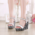 2016 Summer New Fashion Platform Pumps High Heels Wedding Shoes Thick Crust Cheap Womens Sandals Wedges