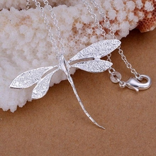 Buy 925 jewelry silver plated Fashion Jewelry Pendant Necklaces Butterfly 18 Inches Chain Jewelry Wholesale Free vcdt LP076 for $1.06 in AliExpress store
