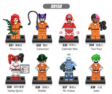 Buy SN 80PCS X0150 Super Heroes Joker Poison Catwoman Calender Man Two-Face Harley Quinn Riddler Mr Freeze Building Blocks Toys for $49.40 in AliExpress store