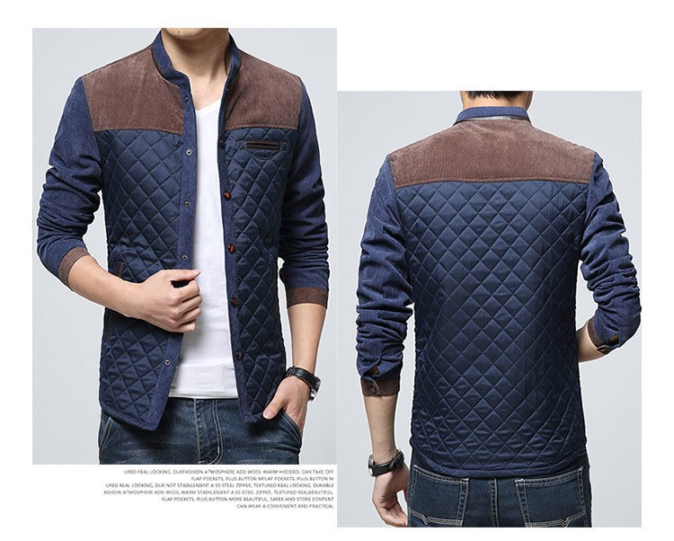 Corduroy Jackets Men Fashion Casual Stand Collar Jacket And Coat Patchwork Design 2016 Spring Autumn Slim Outwear Plus Size 3XL (16)