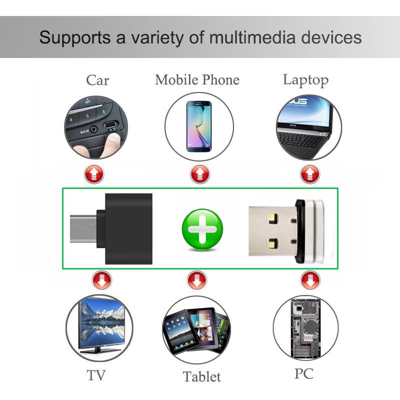 Mini Usb Flash Drive Otg Pendrive 64GB 32GB 16GB Pen Drive Micro USB 2.0 Memory Stick Metal Storage Device For PC/TV/Car Stereo