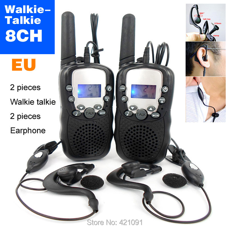 8 Channels T-388 Mini Walkie Talkie Travel Two Way Radio Monitor Function Intercom handy talkie With Earphone and Retail box(China (Mainland))
