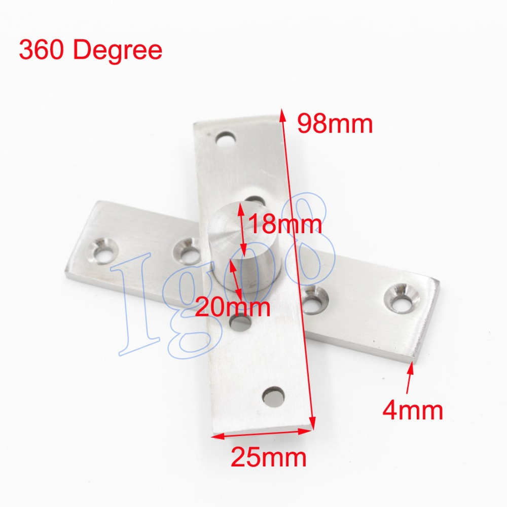 360 Degree 98mm x 25mm Stainless Steel Door Pivot Hinges 2PCS(China (Mainland))