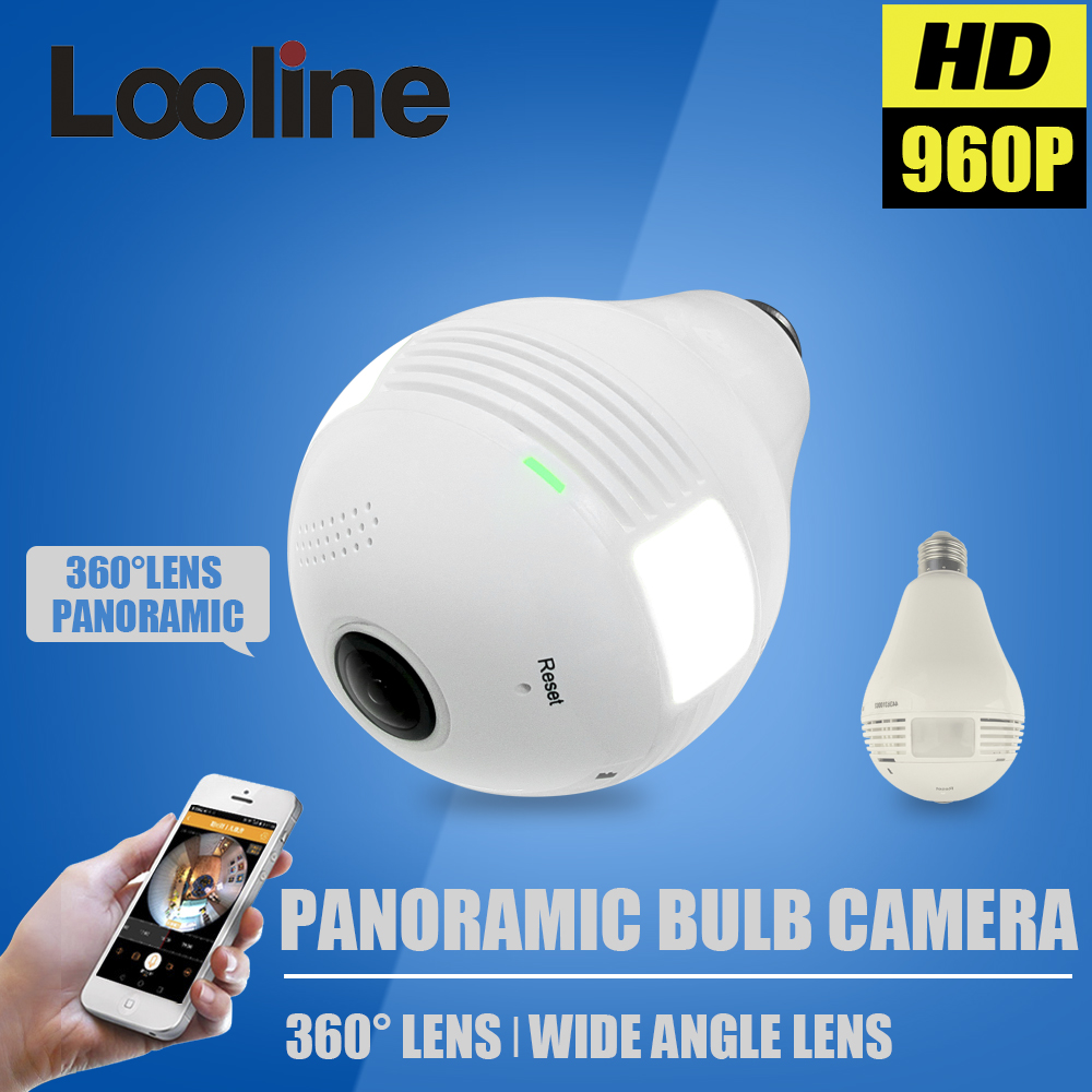 1.3MP 360 Degree WIFI Camera Wireless IP Camera Wi-Fi Bulb Lamp Fisheye Panoramic Surveillance Security Camera Motion Detection(China (Mainland))