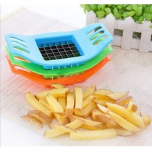 1 Pieces New PVC + Stainless Steel French Fry Fries Cutter Peeler Potato Chip Vegetable Slicer Cooking Tools GD26(China (Mainland))