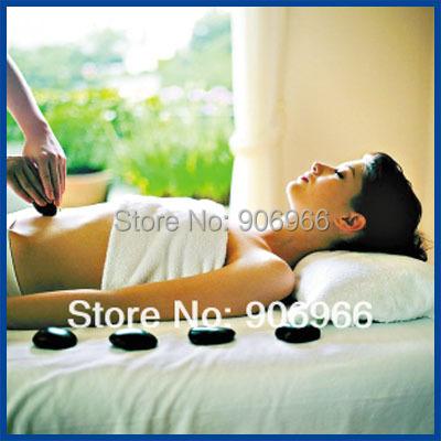Best selling!! 16pcs packing hot sell Massage stones massage stone therapy set hot spa rock basalt stone 1set Free shipping(China (Mainland))
