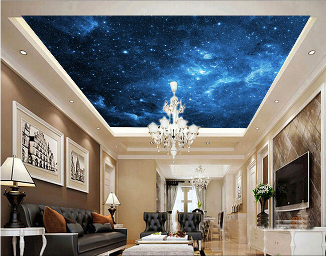 Custom Wallpapers universe, star used in the living room bedroom KTV bar ceiling wall waterproof Papel de parede vinyl(China (Mainland))