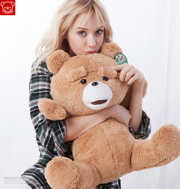 "Free shipping Drop Shipping 23"" Teddy Bear Ted Plush Dolls Man's Ted Bear Stuffed Plush Toys Girlfriend Christmas New Year Gift"
