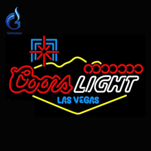 Neon sign coors light las vegas tubo di vetro neon sign  Lampada della luce logo neon di vetro luce handcrafted publicidad segno interna  30x20(China (Mainland))