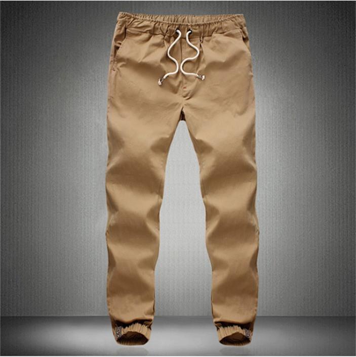 Joggers Male Plus Size Khaki Jogging Pants Mens Casual Sport Track SweatPants Man Cuffed Joggers Cotton Long Trousers M-5XL(China (Mainland))