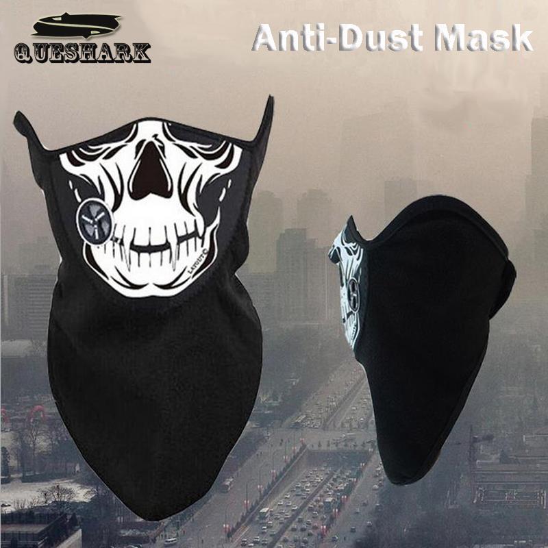Outdoor Fishing Riding Cycling Skull Mask Bike Scarves Men Women Half Face Mask Bicycle Bandanas Anti-fog Haze Mask With Filter(China (Mainland))