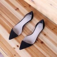 sexy fashion shoes Scrub female flat heel pointed toe female 30 31 32 33 41 42 small yards plus size flat-bottomed single shoes