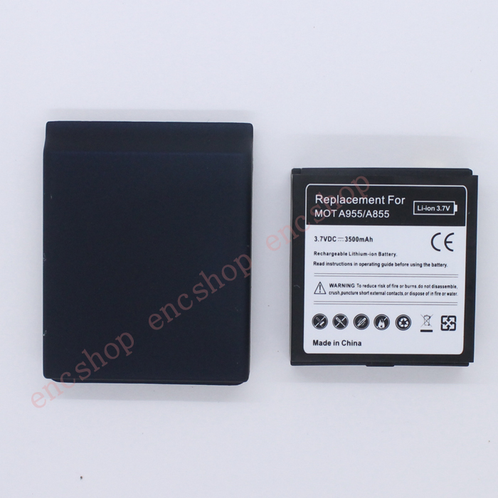 3500mAh extended replacement high capacity Battery For Motorola Droid 2 A955 Milestone BP6X+black Back Door Cover +free shipping(China (Mainland))