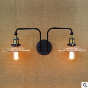 Фотография 120W America RH Loft Style Vintage Wall Lights For Home Glass Lampshade ,Vintage Industrial Lighting Edison Wall Sconce