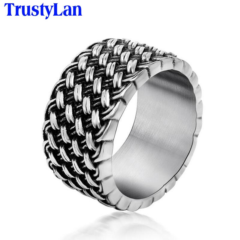 Aliexpress Buy TrustyLan Sales Retro Cool Weaved Rings For Men Brand Wedding Jewelry