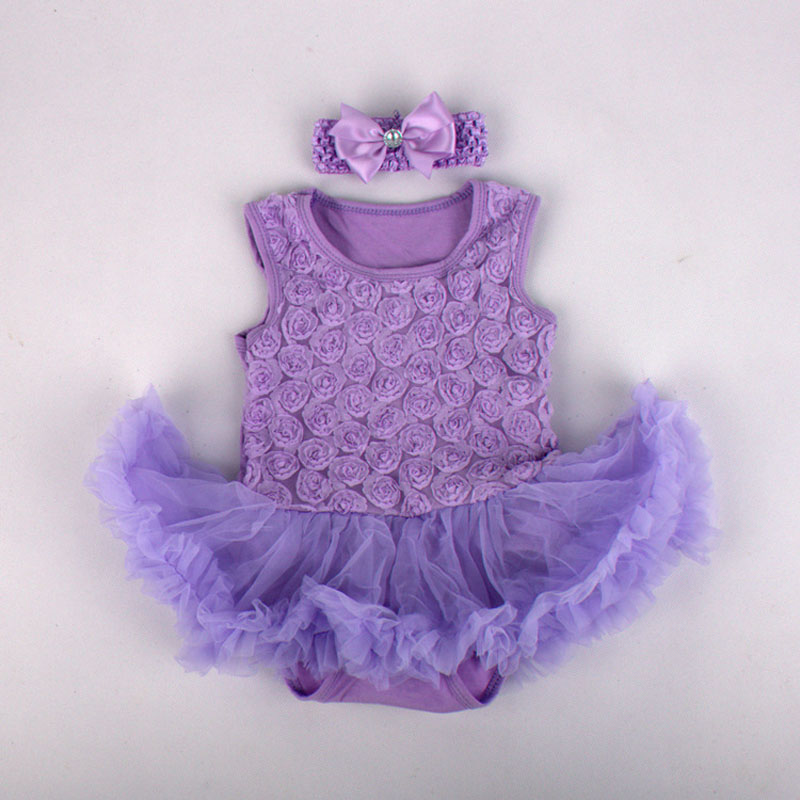 Newborn Fashion 2pcs Baby Girl Romper Princess Tutu Dress Rose Design lace sleeveless vest Jumpsuits clothing Cute Dress(China (Mainland))