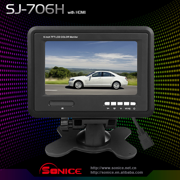 hot sale Free Shipping 7 inch TFT LCD Car Stand alone TV COLOR Monitor with car rearview camera+Wholesale/Retail Guaranteed 100%