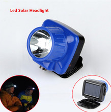 (2pcs/lot) High Bright 1w Led Solar Headlight Caping Lamp Portable Field Hunting Lighting Power+110~220v Ac Charging (China (Mainland))