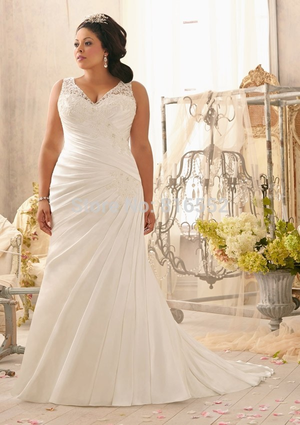 2014 New Fashion Sexy Spaghetti Strap High Waist Ivory Mermaid Wedding Dresses Plus Size Bridal Gowns Custom Made(China (Mainland))