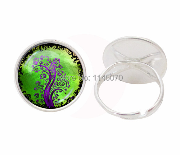 purple tree of life wedding ring hollow Finger Decoration rings vintage party accessories finger jewelry men women lover gifts(China (Mainland))