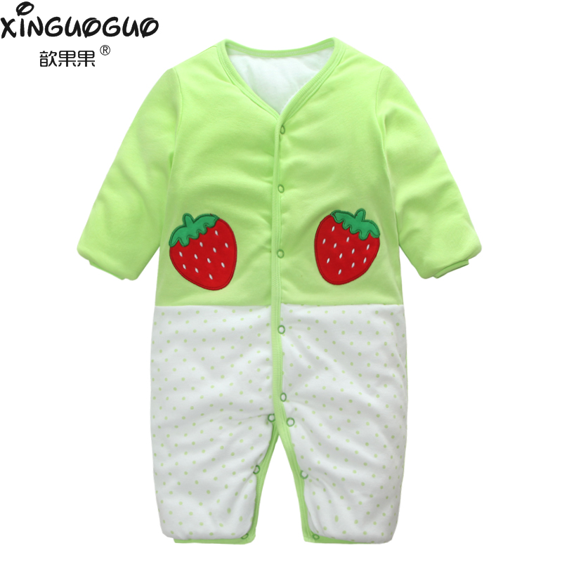 0 12 month winter 100% cotton one piece long sleeve baby ...