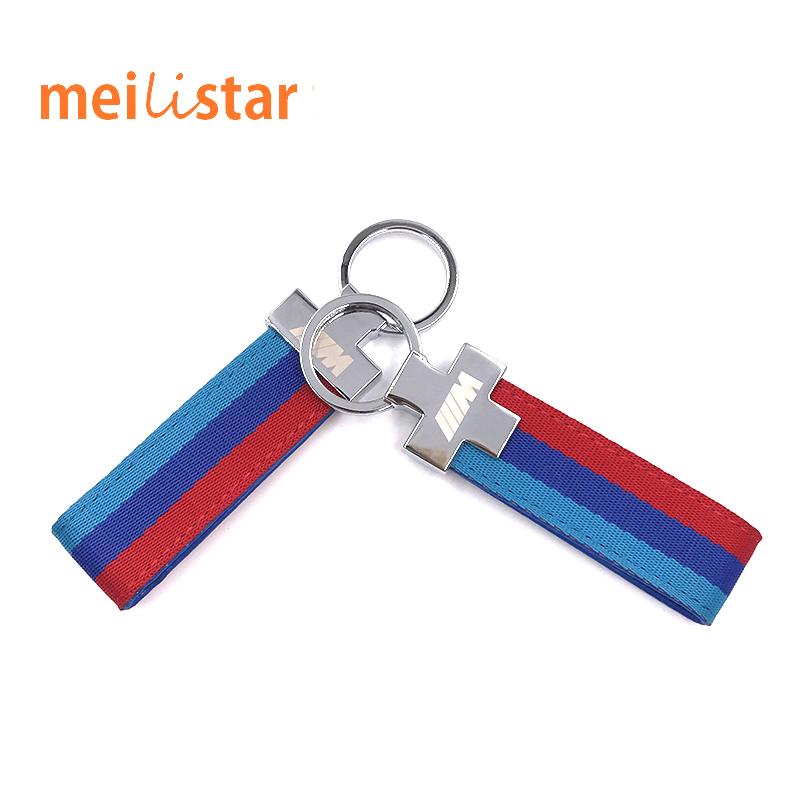 M Tech M Sport Leather Belt Chrome Keyring Keychain For BMW E46 E39 E60 F30 E90 F10 F30 E36 X5 E53 E30 E34 X1 X3 M3 M5 Key Cha(China (Mainland))