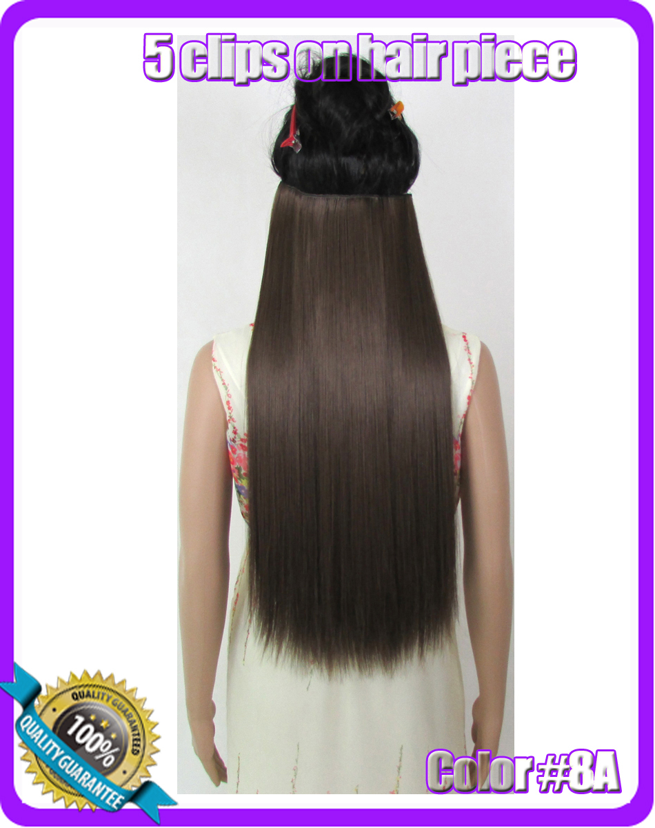 24(60cm) 120g straiht clip in hair extensions hairpiece hair pieces accessories color #8A Ash Brown<br><br>Aliexpress