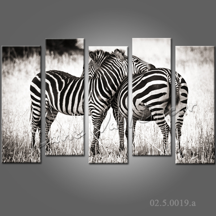 No Frame Canvas Only 5 Pieces 150x95cm Wall Art Black And