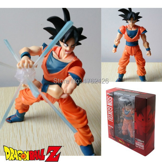 Anime Dragon Ball Z Son Goku SHFiguarts Figure Dolls Action PVC Figure Model Kids toy For Boy Free Shipping 16CM Joint Movable(China (Mainland))
